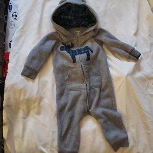 Blue and green plaid moose sweatsuit